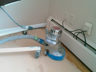 Hardwood floor refinishing by Ray Case Floors in Rochester, NY - make old wood floors look new again.